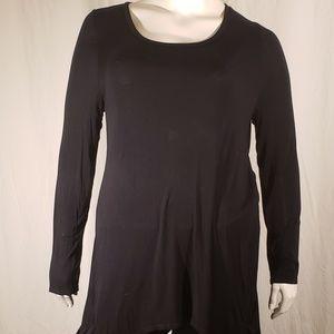 5/$20 LOGO black soft tunic top size large